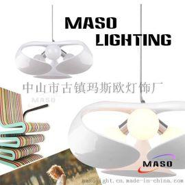 热 批发玛斯欧三叶花瓣树脂创意设计落地台灯室内三头吊灯MS-P1026LED光源 LED吊灯