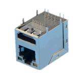 RJ45+HDMI帶燈千兆音頻傳輸網路連接器