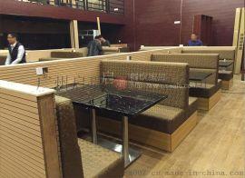 简约咖啡厅沙发 甜品店靠墙茶餐厅西餐厅奶茶店卡座沙发桌椅组合