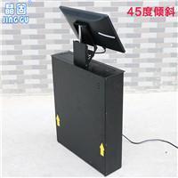 晶固会议桌面液晶屏翻转器19寸升降器倾斜45度显示器升降机
