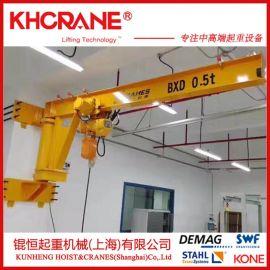 DEMAG德马格500kg电动旋臂吊上海工字钢悬臂吊立柱式旋臂起重机