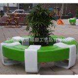 玻璃钢商场等候椅 圆形休闲椅 公园户外摆件 厂家定制直销
