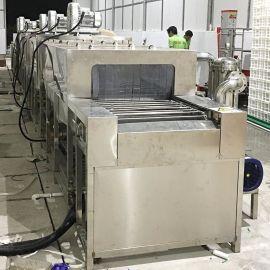 塑料胶筐清洗机洗油去尘 工业周转箱清洗烘干自动线