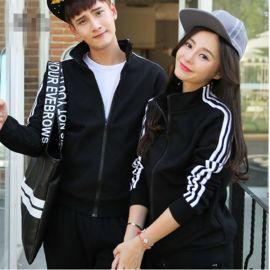 情侣装秋冬装外套韩版加绒运动棒球服卫衣厚男女学生班服订做LOGO
