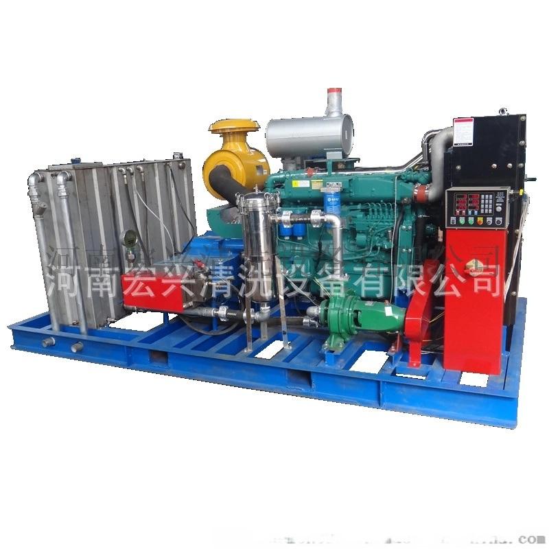 煉油廠熱交換器多把*換熱器清洗機 大壓力大流量電動高壓清洗機