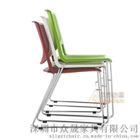 培训椅 塑料多功能可重叠椅 学习会议洽谈椅子批发价格
