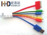 宏浩达数据线工厂直销六合一数据线多功能数据线