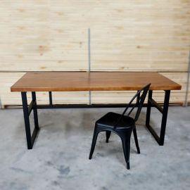 深圳餐饮家具,实木餐桌定制, 工业风家具定做