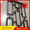 拉丝红铜不锈钢隔断,酒店会所装饰屏风