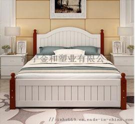1.5米松木双人床经济简约卧室家具实木单人床