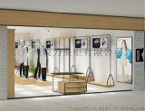 展柜厂家供应落地式侧挂衣架男女装陈列架服装店展示架