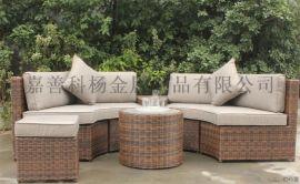 簡約休閒藤椅七件套陽臺桌椅茶幾戶外室內庭院仿藤椅子五件套組合