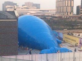 百万海洋球大型鲸鱼岛充气模型出租