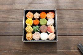 一次性河风寿司盒日式套餐盒外 盒木制正方形拼盘打包盒精致