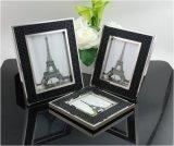 欧式现代简约 新古典黑色水钻树脂相框 不锈钢边框 家居摆件