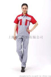 上海红万服饰現貨工作服制服套裝、工作服夏季长袖短袖