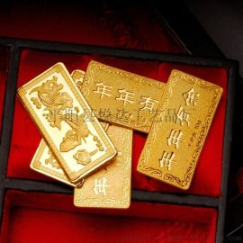悅達廠家定制十二生肖投資金銀條高品質紀念金條定制