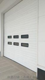 自动提升门,彩钢冷轧钢板工业提升门,车间工业滑升门