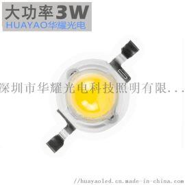大功率LED灯珠3W普瑞45高品质仿流明LED光源