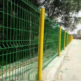 【沃达】桃形立柱围栏网_庭院围墙护栏_三道弯护栏网