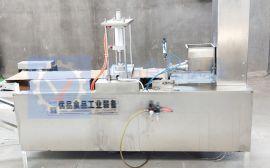 全自动生产芝麻薄脆饼机-不用油制作芝麻薄脆饼