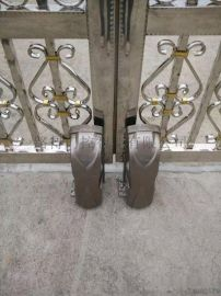 农村双扇庭院大门电动改造阿尔卡诺遥控开门机