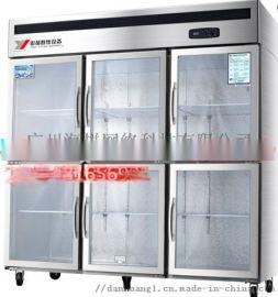 扬州冷柜|银都商用六门陈列柜