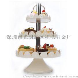 三層點心架水果盤蛋糕家用糖果托盤甜品臺展示架盤