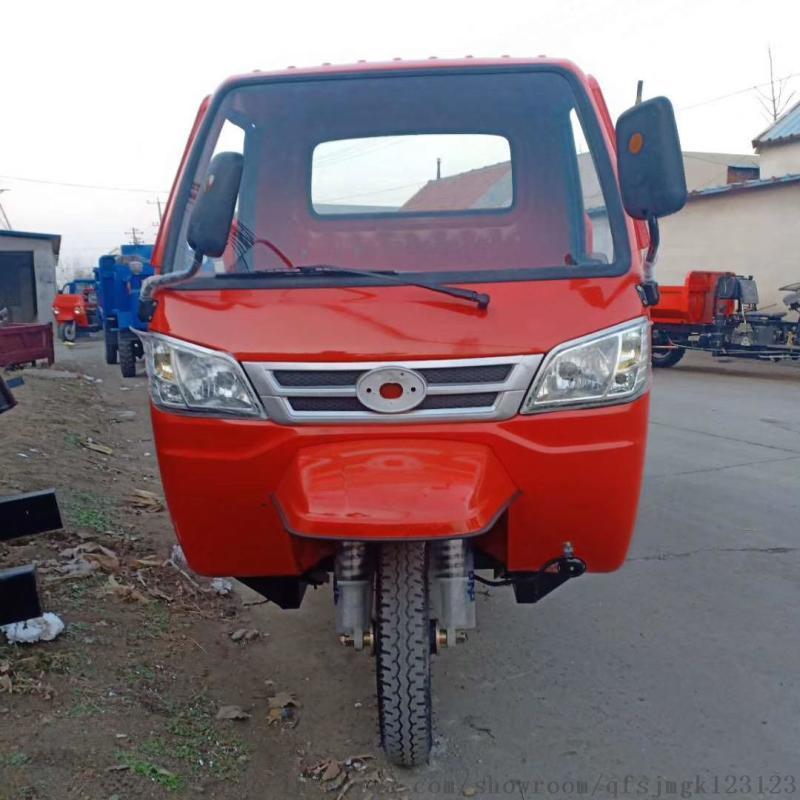 柴油方斗运输三轮车 电启动自卸式运输车