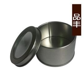 厂家直销 65*40开窗铁皮盒 手表铁盒包装定制 金属罐圆形