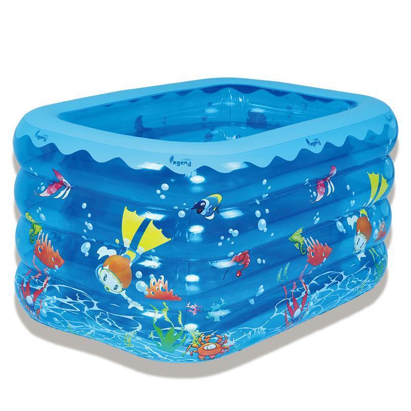BBL  (8005) PVC充气海底世界四环大方充游泳池