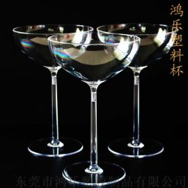 东莞鸿乐塑料杯定制一次性高脚塑料杯高脚雪糕杯