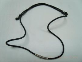 黑色蜡绳项链(T37)