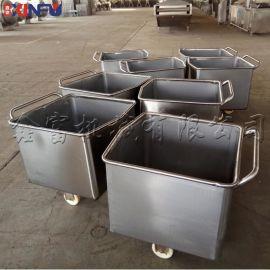 食品级不锈钢料斗车  肉料车 提升机配套料斗车