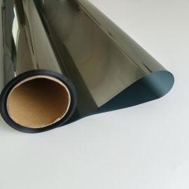 销售反光汽车隔热膜侧挡玻璃太阳膜银绿色防爆膜易烤