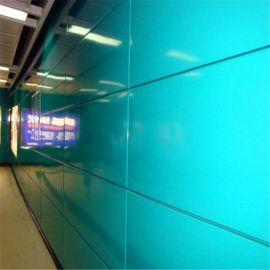 烤瓷铝单板幕墙厂家加工定做地铁过道绿色铝单板