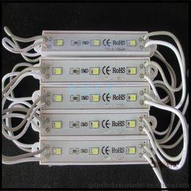 贴片2835三灯防水模块/广告模组/发光模块/白光模组/吸塑灯