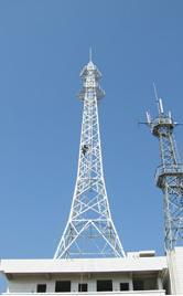 无线电信号塔 角钢通讯信号发射塔 信号接收塔