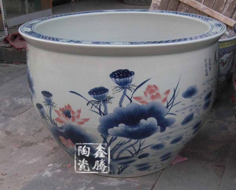 供應景德鎮手繪青花1.2米陶瓷大缸