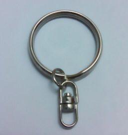 钥匙圈批发 28mm角圈配中8字扣 四节链光圈