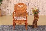 藤家具雕花藤木餐椅靠背扶手椅子藤编桌椅咖啡酒店会所椅实木