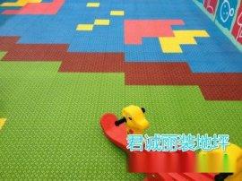 英德幼儿园彩色拼装地板安装,可描绘各种球场及标线