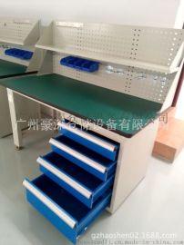 佛山防静电工作台侧柜4抽屉带挂板隔层零件盒加挂钩