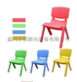 环保塑料  椅子 靠背椅 幼儿园  儿童学习桌椅 加厚 中班28cm高