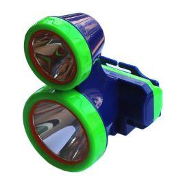 双光源头灯led充电照明电筒双头白光黄光