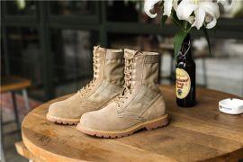 漯河鞋厂马丁靴反绒皮工装靴时尚男靴子