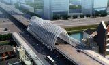 保定玉通路橋蓋板鋼模具外形漂亮:簡練線條,銀色外表