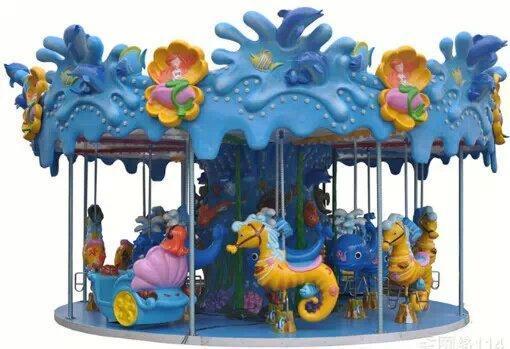 愛寶遊樂設備鋼架轉馬質優價廉