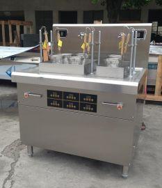 供应方宁六头自动升降电磁煮面机 单缸智能煮面炉商用