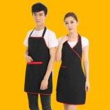 奶茶超市工作服圍裙男女咖啡廳服務員掛脖圍裙 LOGO定製廣告圍裙
